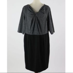 NEW DIRECTIONS Black& Gray Dress Size 18W